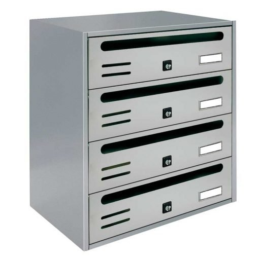 Cutie poștală orizontală argintie