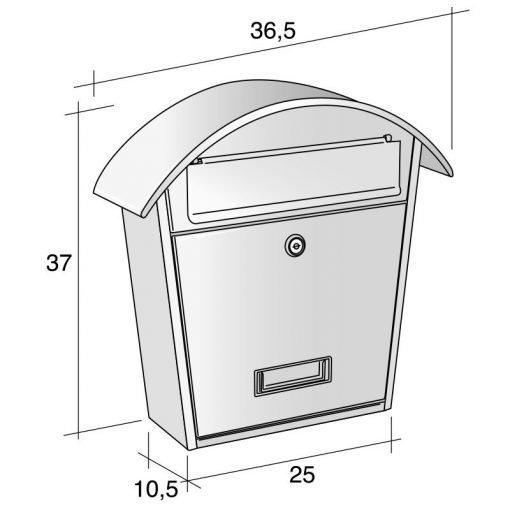 cassetta postale da esterno misure