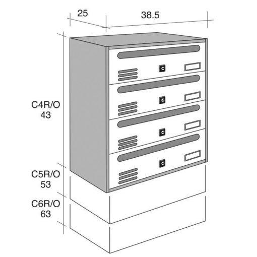 Măsuri de 6 locuri pentru dulap