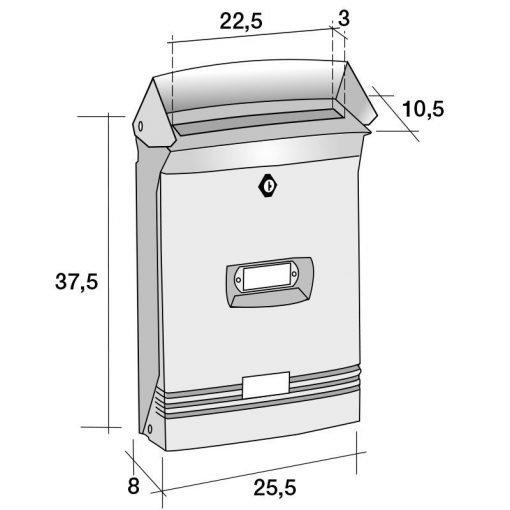 cassetta postale in alluminio