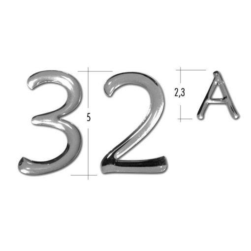 misure numeri civici resinati adesivi