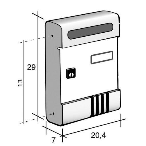 misure cassette alluminio