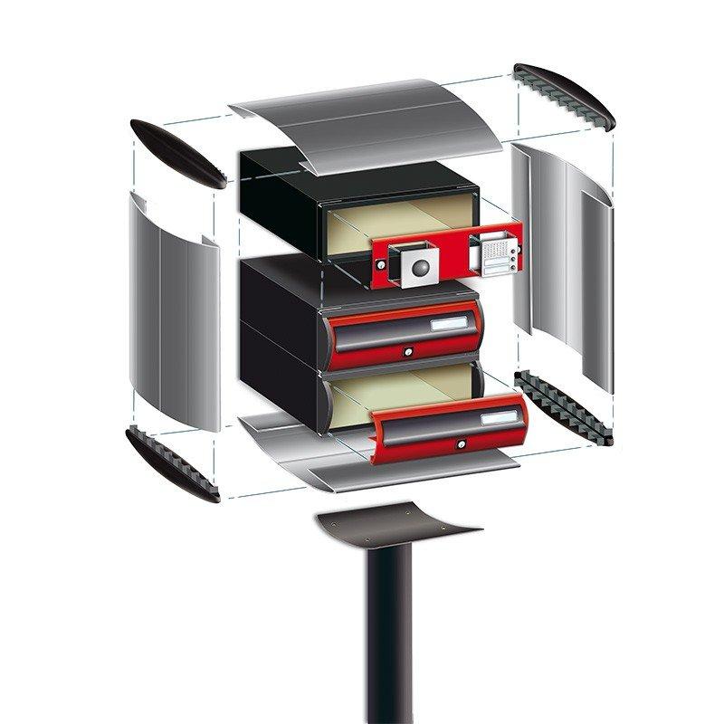Customizable condominium mailbox