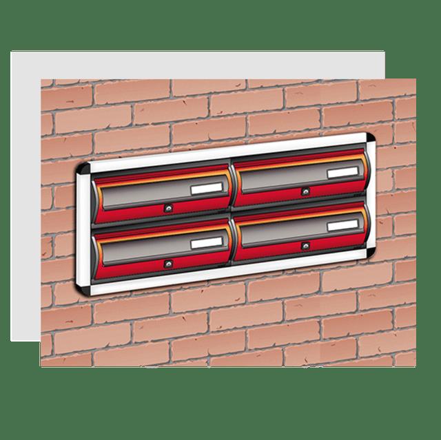 Casellari Postali Incassati a Muro con cornice