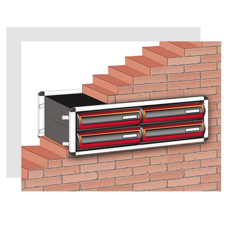 Recess Mounting Mailbox sets with cover frame