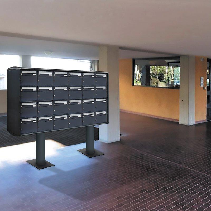 Cassetta Postale Con Vano Portapacchi