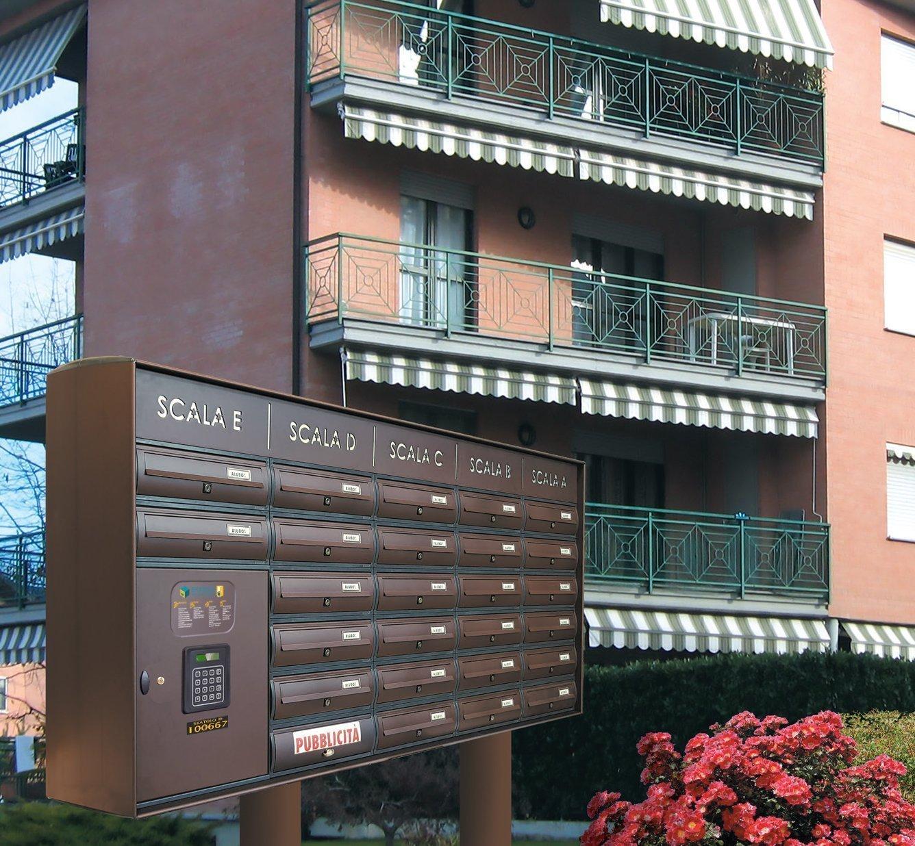 Casellario Postale Condominiale con Vano Portapacchi